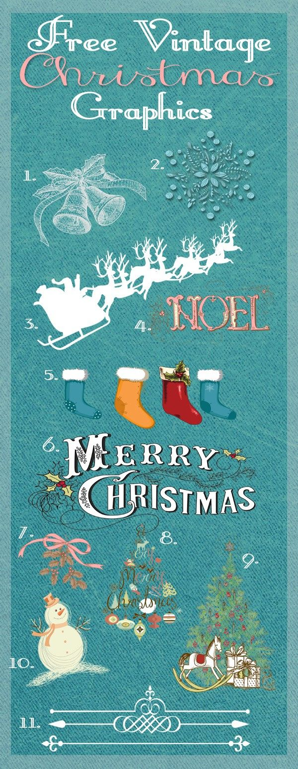Free Vintage Christmas Graphics Decorate your Christmas cards, table place settings, gift tags & more this year with Graphic Stocks wonderful collection of Christmas...