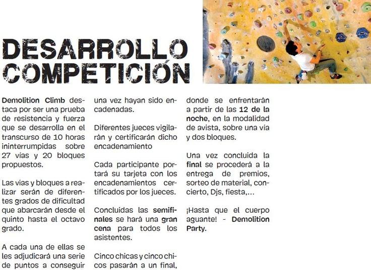 El desarrollo de la competición es muy dinámico. http://www.bierzonatura.es