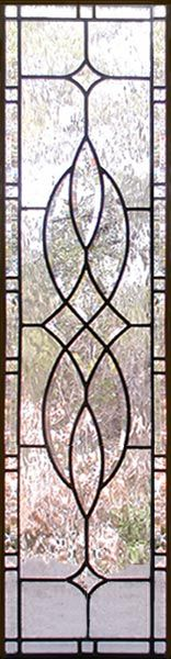 VIEW custom leaded glass horizontal bevel transom window