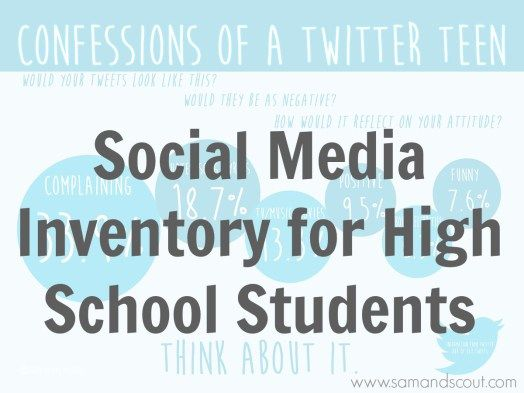 Social Media Inventory for High School Students - Teaching Sam and Scout