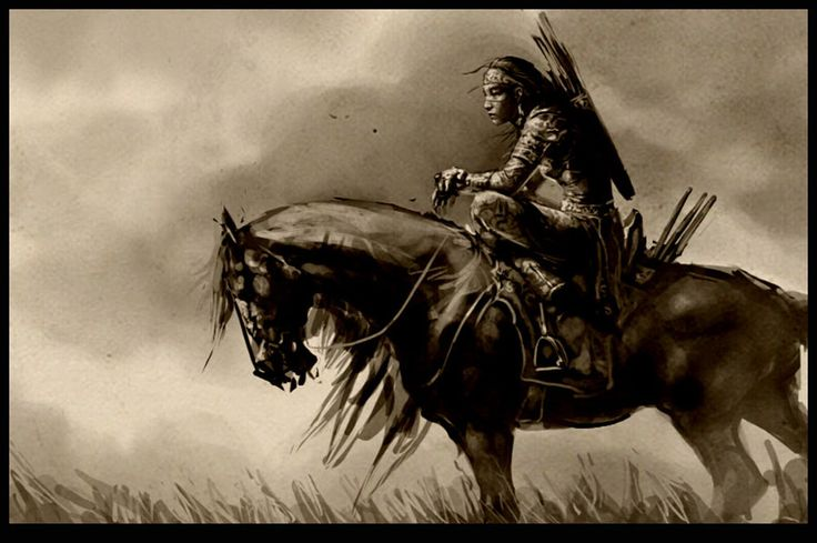 Woman warrior by bitrix-studio