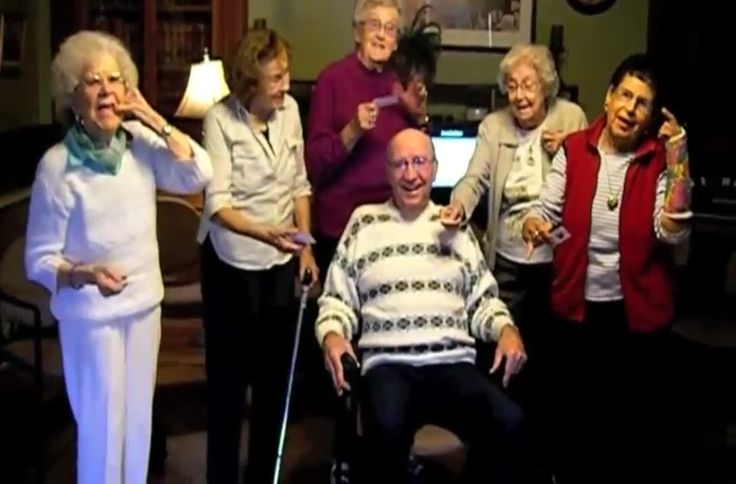 "Nursing home residents perform ""Call Me Maybe"". I will do stuff like this and be the lady in the pink pants getting chased."