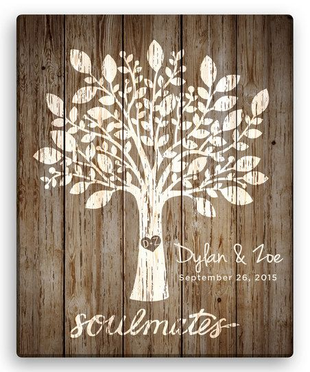 Personalized Planet Brown Tree of Love Personalized Canvas | zulily