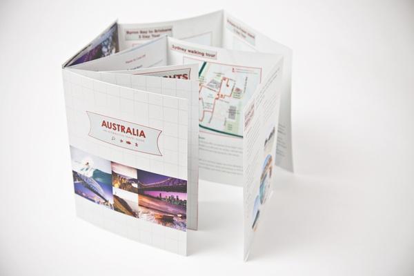 Australia Travel Guide by Lydia MacIntosh, via Behance