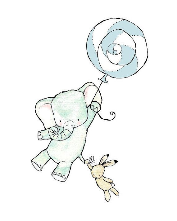Ces deux sont désactivés sur une nouvelle aventure ! Cet ensemble comprend : fiche 1 -1 éléphant (11 « x 15 »), 1 lapin (7 « x 4 »), 1 ballon
