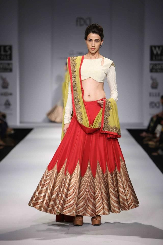 A A I N A - Bridal Beauty and Style: Designer Bride: Anand Kabra at Wills Lifestyle India Fashion Week 2013