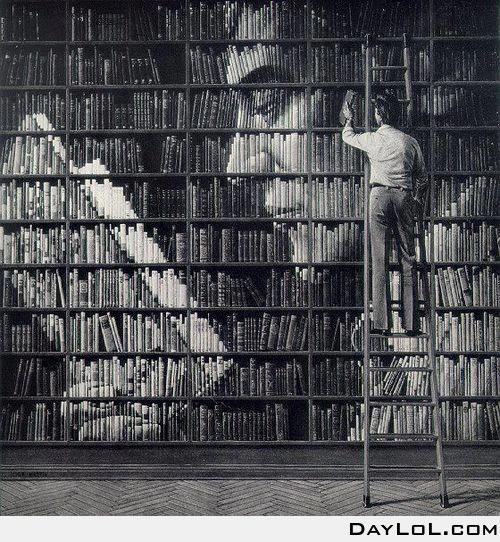 Book art - it would be like looking at a puzzle box instead of the dewey decimal for shelving :-p