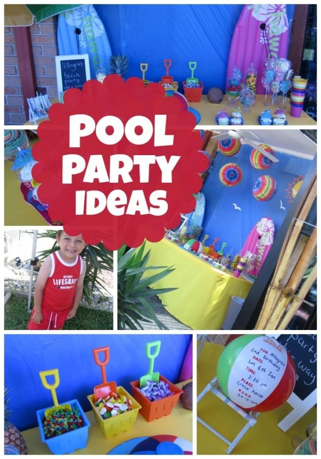 Summer birthday party ideas - this would be great for a pool, beach or any summer theme