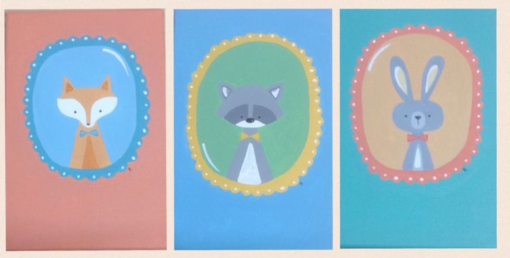 Animals for babies.  Loli Roberts arte