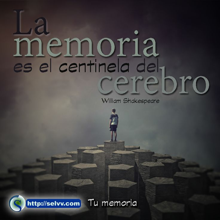 La memoria es el centinela del cerebro. William Shakespeare http://selvv.com/tu-memoria/ #Selvv