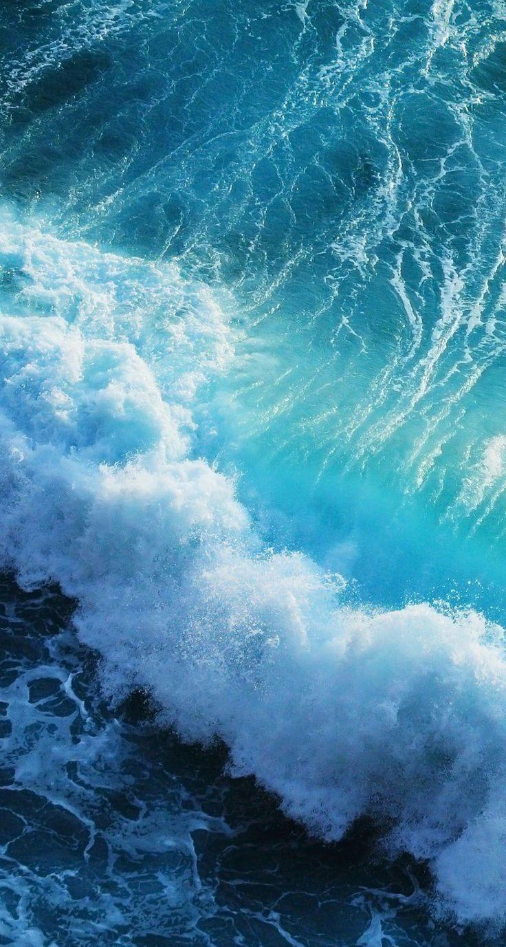 Wave. Blues, sea, ocean, nature Fondos ios, Iphone