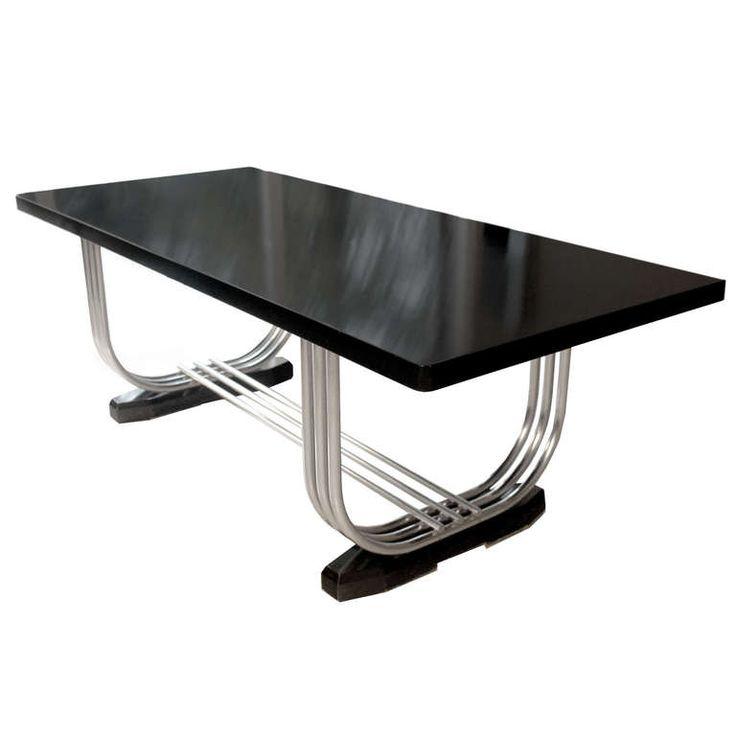 art deco modern furniture. Very Large Art Deco Dining Table By Pel England 1930s Modernist Design Modern Furniture