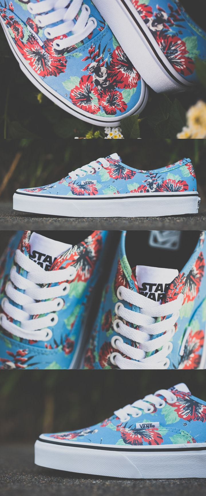 Vans x Star Wars // Yoda Aloha Authentic Shoes...These make me happy, star wars and floral pattern all in one