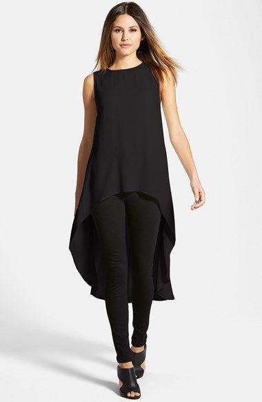 Eileen Fisher Sleeveless Silk High/Low Tunic Nordstrom