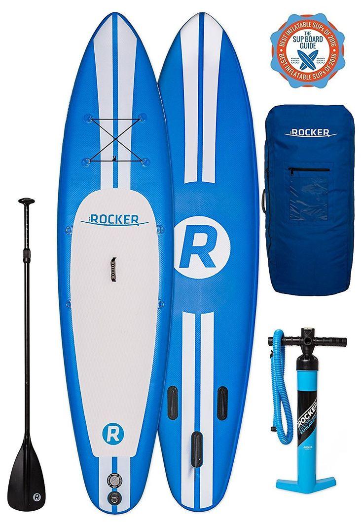 Tabla inflable de paddle surf iRocker, 335x76x15cm Conjunto SUP (Azul)