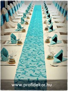 türkiz esküvői dekoráció - Google keresés