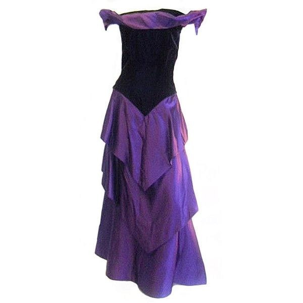 Preowned Scaasi Beautiful Royal Purple Vintage Ball Gown 550 Liked On Polyvore Featuring