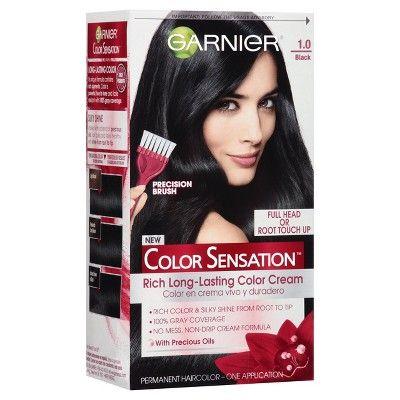 Garnier Color Sensation Hair Color Rich Long-Lasting Color Cream 1.0 Black