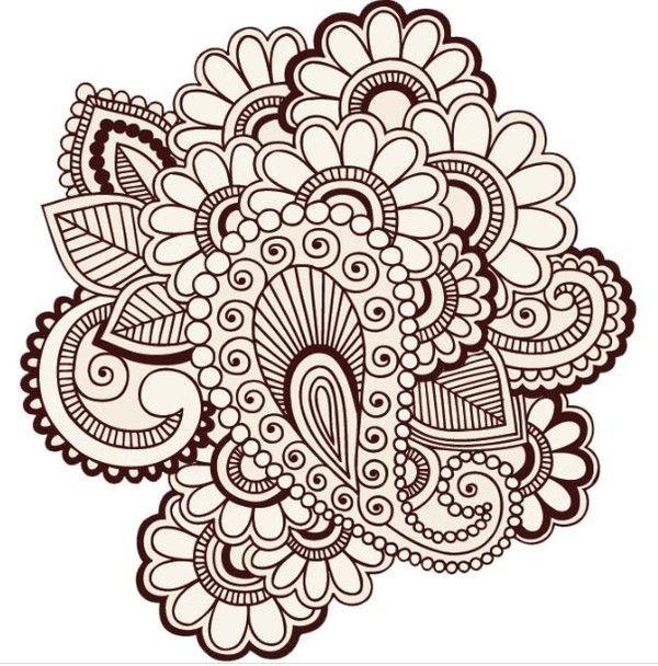 Henna Tattoo In Bangkok: Henna Design - 堆糖 发现生活_收集美好_分享图片