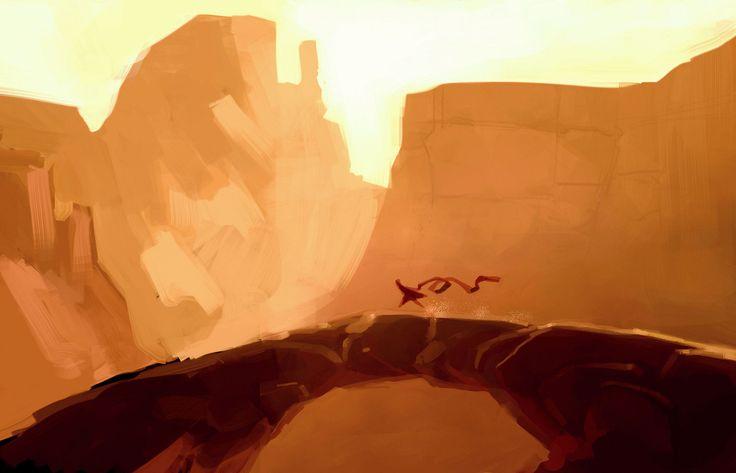 Journey™ Environment Concept Art by Matt Nava (ThatGameCompany © 2012)
