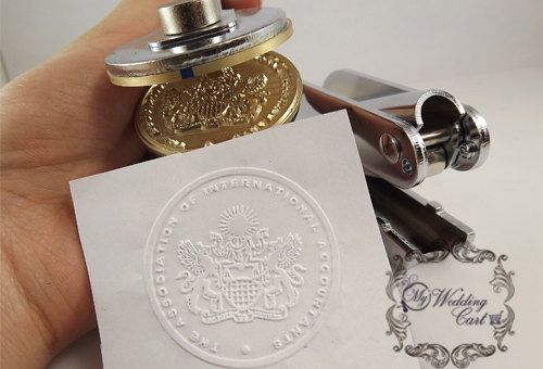 Custom Embosser Stamp - Custom Embosser Seal for Personalized, Wedding Seal
