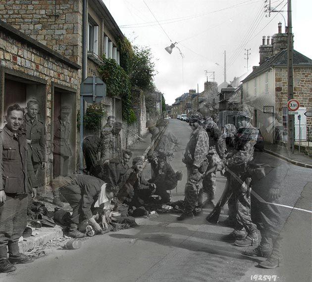 'Ghosts of War' - (Los fantasmas de la historia), es una espectacular serie que combina fotografías reales de la segunda guerra mundial con las de hoy en día.