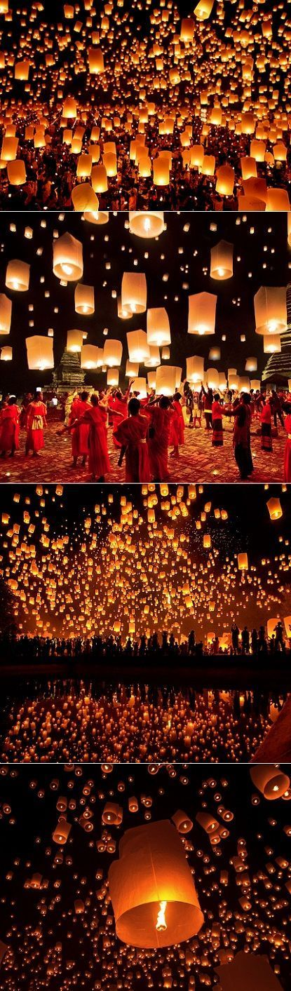 Each November the city of Chiang Mai in Thailand transforms into the most mesmerizing lantern festival called yi peng
