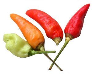 30 BIRDS EYE CHILI PEPPER (Chiltepin Pepper) Capsicum Frutescens Vegetable Seeds by Seedville. $1.18. COLOR:  Green to Orange to Red. LIGHT REQUIREMENTS:  Sun  . . .  SOIL / WATER:  Average. The Birds Eye Chili Pepper is very hot measuring 50,000-100,000 SHUs which is almost as hot as a Habanero Pepper. They get their name because of their shape and because they are widely spread by birds (although I cant imagine how a bird could eat these hot peppers!). These peppers are used...