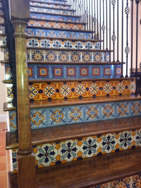 Spanish tiled staircase