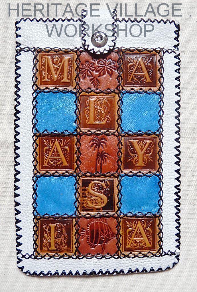 Malaysia . Handmade leather case for Tablet computer with Malaysia symbol .Кожаный сувенирный футляр планшетного компьютера с символикой Малайзии . #souvenirs , #case , #leathercraft , #handmade , #gift , #сувениры , #kuala_lumpur , #футляры , #malaysia , #малайзия