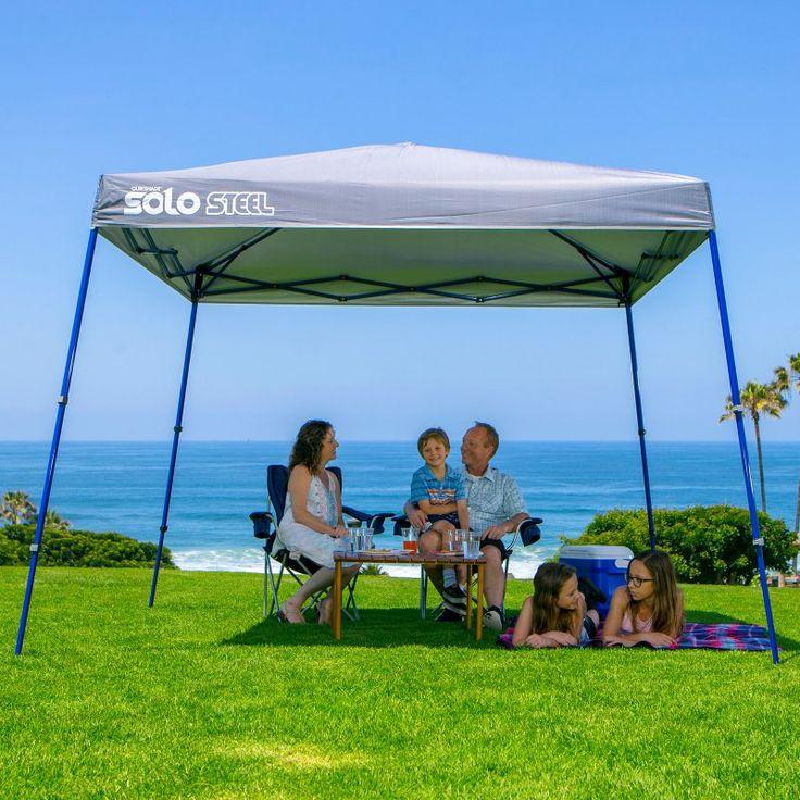 Quik Shade Solo Steel 72/90 Slant Leg 11 x 11 ft. Instant Canopy Black/Blue - 164437