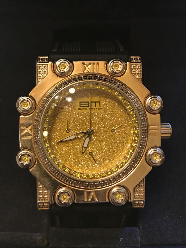 Bling Master Watch Model Et 1183 Needs New Battery For Sale In Scottsdale Az Watch Model Bling Gold Watch