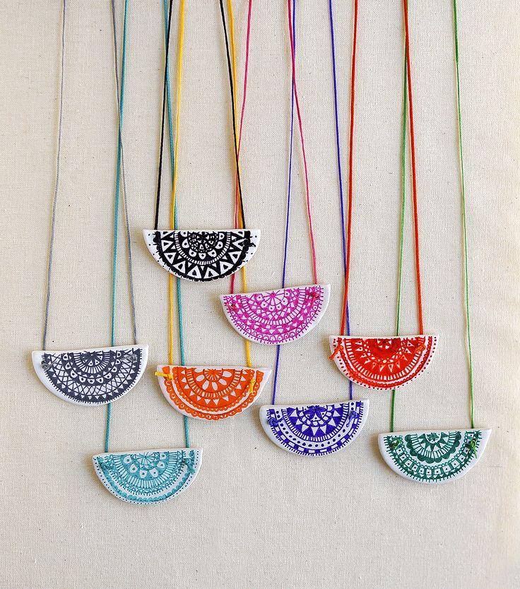 """Clay mandala pendant"" Anna Spathari"