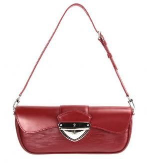 Louis Vuitton Montaigne Bowler Clutch In Wine Red Epi Leather $765