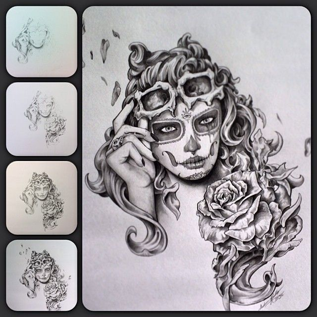Here's one of my AKCartooning designs in progress on how she came together, enjoy!..