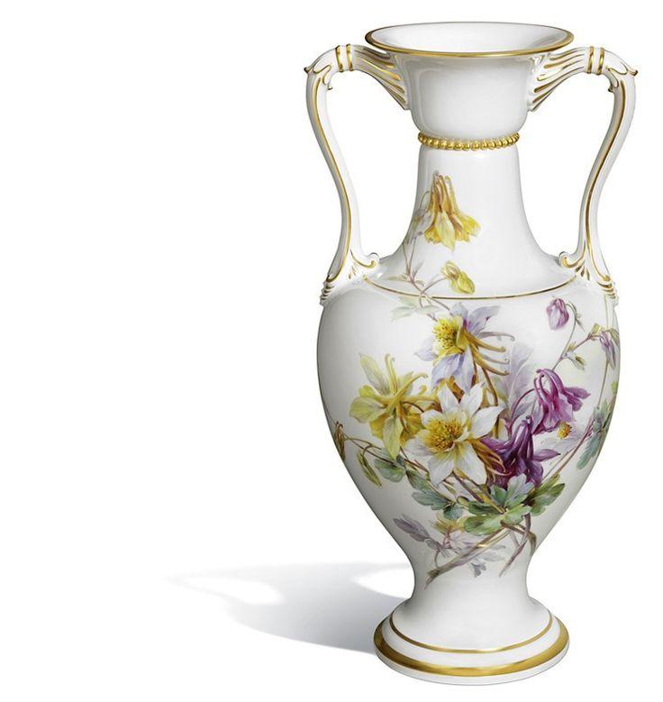 "Vase ""Naturalist flower painting"", H 46 cm"