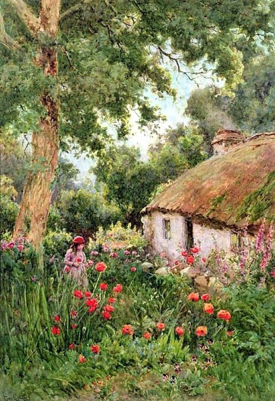 A Cottage Garden - Counted cross stitch pattern in PDF format by Maxispatterns on Etsy