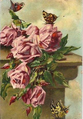 -: Romance Roses Etc, La Roseraie, Розы Roses, Pink Rose, Vintage Rose, Rose Hope, Rosen Bild, Butterflies Rose