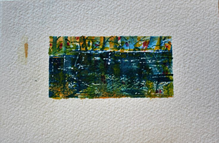 "2"" x 4"" Matted, including shipping/ Miniature Watercolour"
