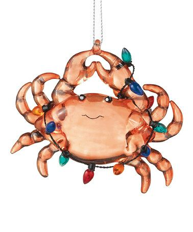 Take a look at this Christmas Crab Ornament by Grasslands Road on #zulily today!