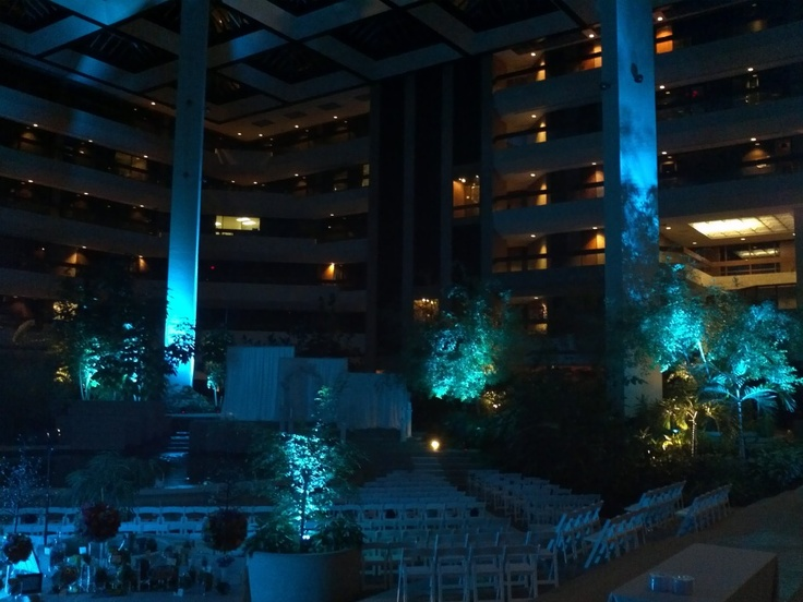 uplighting at claydesta atrium in midland  tx  midlandtx
