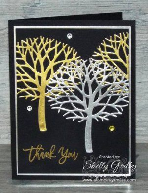 Easy and Elegant Stampin' Up! Thoughtful Branches Card