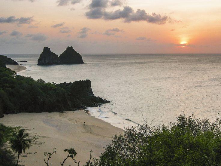 Tropical Sunset  Fernando de Noronha  #Brazil |  Photo By -  João Paulo Lucena