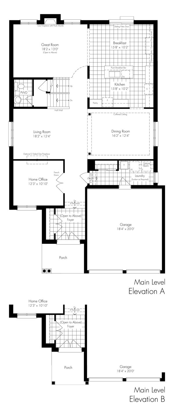 The Current Main Level Home Decor Floor Plans