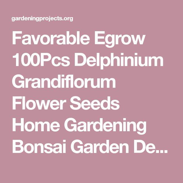 Favorable Egrow 100Pcs Delphinium Grandiflorum Flower Seeds Home Gardening Bonsai Garden Decor - NewChic Mobile
