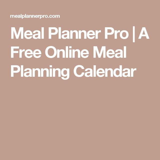 Meal Planner Pro | A Free Online Meal Planning Calendar