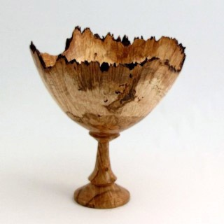 Houzz Eclectic Tabletop :: Sugar Maple Burl Wood Turned Goblet