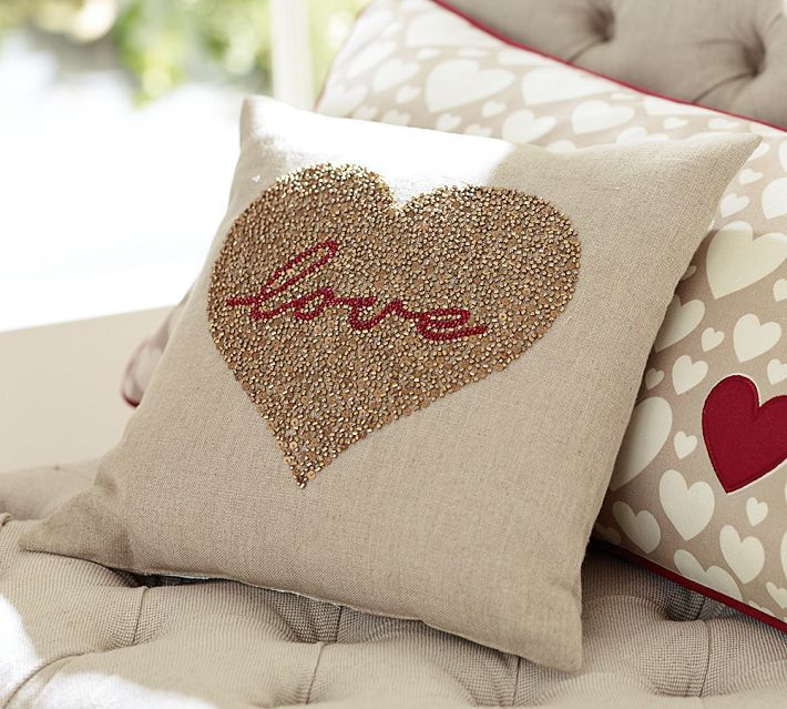Valentines Decor Pottery Barn Valentines Pillows