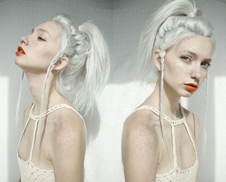 white • hair • dyed • style • fashion • girl