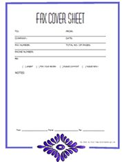 Free & easy downloads ~ fax cover sheet template